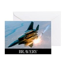 Military Poster: Brave men stand tal Greeting Card