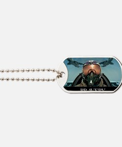 Military Poster: Brave men stand tall in  Dog Tags