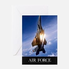 Military Poster: An F-15E Strike Eag Greeting Card
