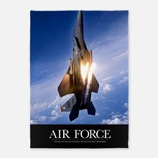 Military Poster: An F-15E Strike Ea 5'x7'Area Rug