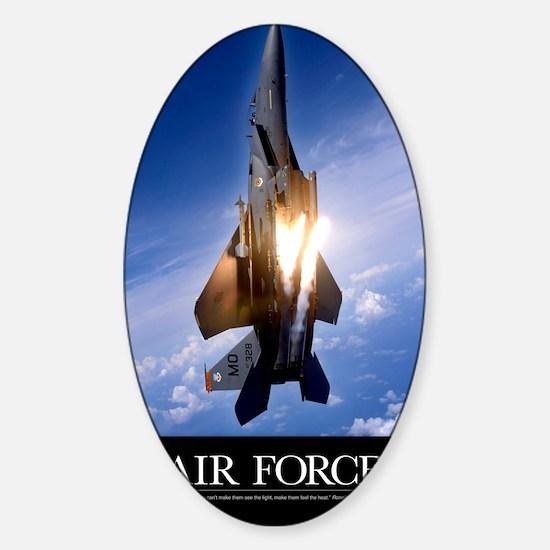Military Poster: An F-15E Strike Ea Sticker (Oval)