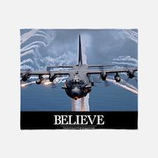 Military Poster: An AC-130H Gunship  Throw Blanket