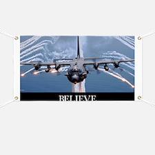 Military Poster: An AC-130H Gunship aircraf Banner