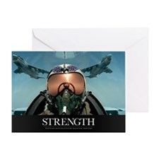 Military Poster: A pilot takes a sel Greeting Card
