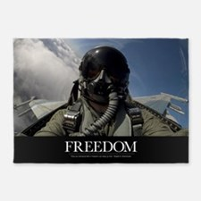 Military Motivational Poster: Freed 5'x7'Area Rug