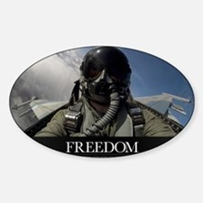 Military Motivational Poster: Freed Sticker (Oval)