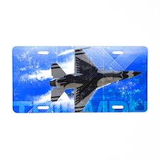 Military Grunge Poster: Tri Aluminum License Plate