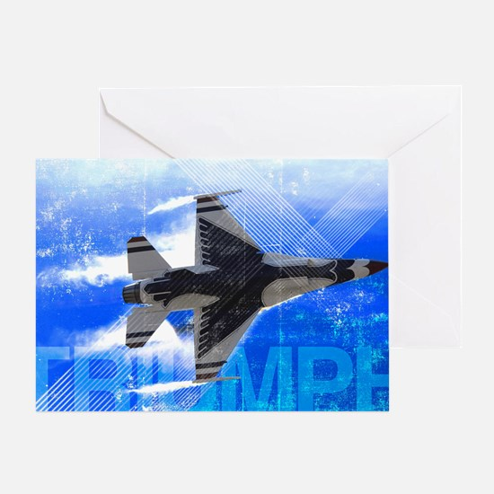Military Grunge Poster: Triumph. An  Greeting Card
