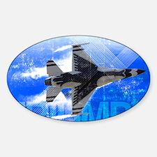 Military Grunge Poster: Triumph. An Sticker (Oval)