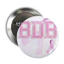 "BDB initials, Pink Ribbon, 2.25"" Button"
