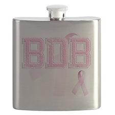 BDB initials, Pink Ribbon, Flask