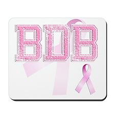BDB initials, Pink Ribbon, Mousepad