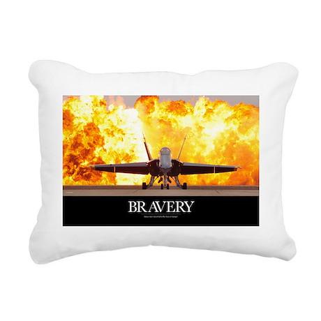 Military Motivational Po Rectangular Canvas Pillow