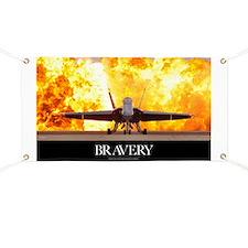 Military Motivational Poster: Brave Men Banner
