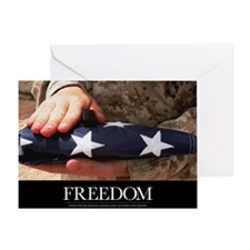 Military Motivational Poster: Freedo Greeting Card