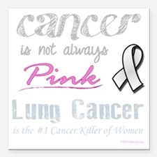"""Cancer is Not Always Pin Square Car Magnet 3"""" x 3"""""""