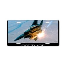 Military Poster: An F-15E S Aluminum License Plate