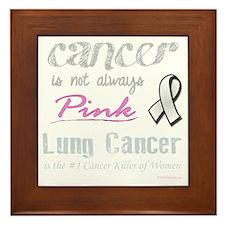 Cancer is Not Always Pink! Framed Tile