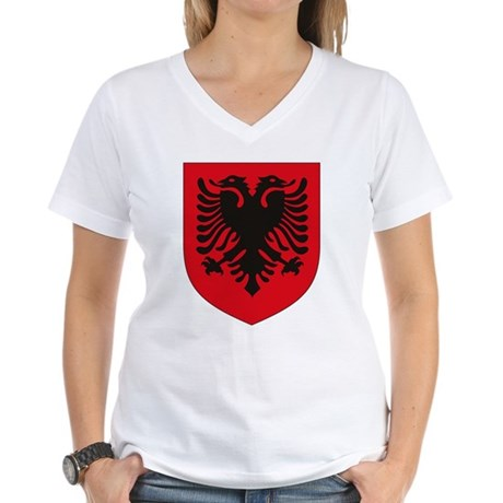Albanian Coat of Arms Women's V-Neck T-Shirt