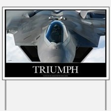 Military Poster: An F-22 Raptor prepares Yard Sign