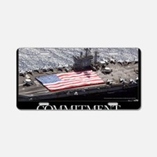Military Poster: Personnel  Aluminum License Plate