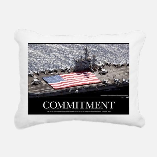 Military Poster: Personn Rectangular Canvas Pillow