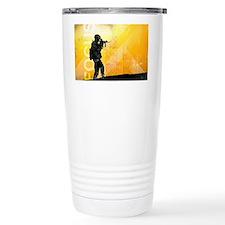 US Army Grunge Poster: Focus. U Travel Mug
