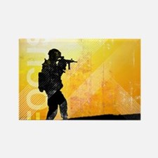 US Army Grunge Poster: Focus. U.S Rectangle Magnet