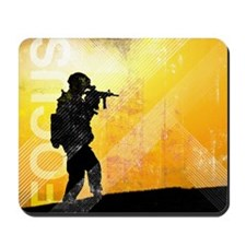 US Army Grunge Poster: Focus. U.S. Army  Mousepad