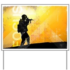 US Army Grunge Poster: Focus. U.S. Army  Yard Sign