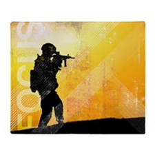 US Army Grunge Poster: Focus. U.S. A Throw Blanket