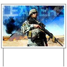 Motivational Grunge Poster: Leaders. U.S Yard Sign