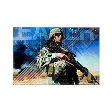 Motivational Grunge Poster: Leade Rectangle Magnet