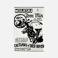 Tom Mix OUTLAWS OF RED RIVER Rectangle Magnet