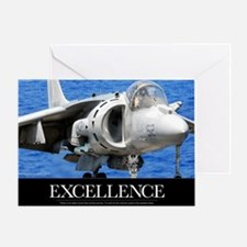 Air Force Poster: Excellence Greeting Card