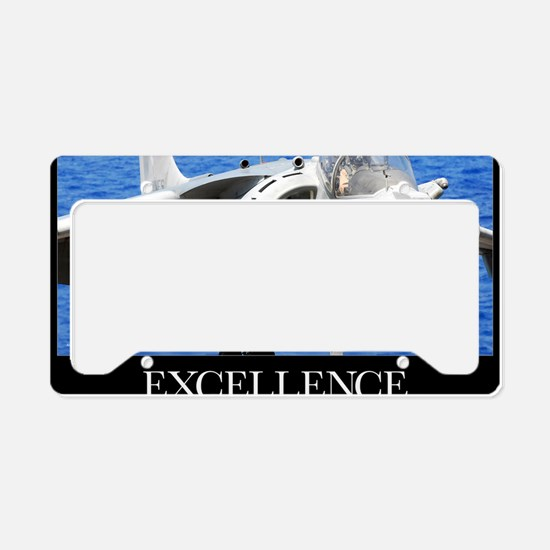 Air Force Poster: Excellence License Plate Holder