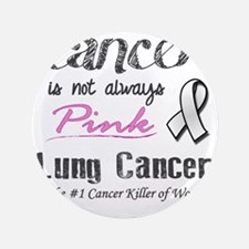 "Cancer is Not Always Pink! 3.5"" Button"