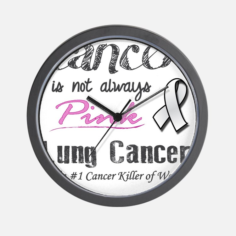 Cancer is Not Always Pink! Wall Clock