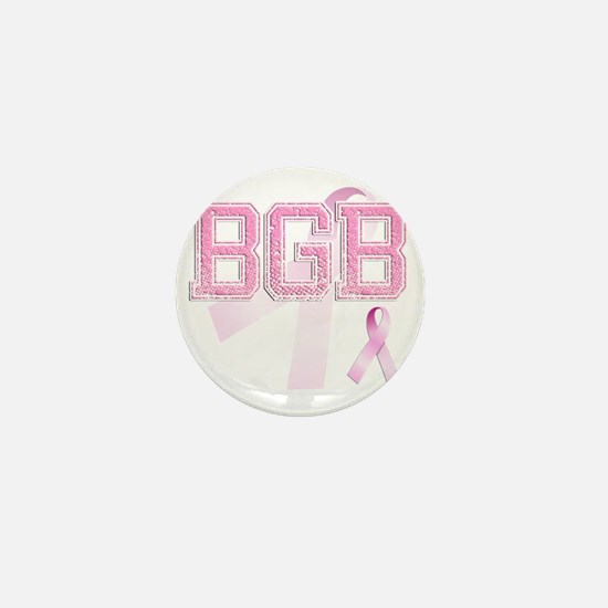 BGB initials, Pink Ribbon, Mini Button