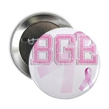 "BGE initials, Pink Ribbon, 2.25"" Button"