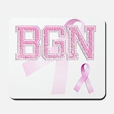 BGN initials, Pink Ribbon, Mousepad