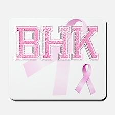 BHK initials, Pink Ribbon, Mousepad