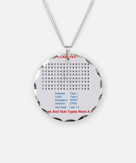 Searching To Cure Diabetes Necklace