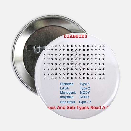 """Searching To Cure Diabetes 2.25"""" Button"""