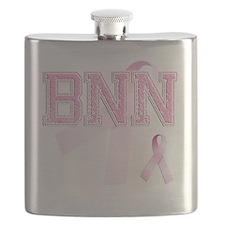 BNN initials, Pink Ribbon, Flask