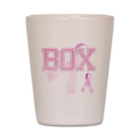 BOX initials, Pink Ribbon, Shot Glass