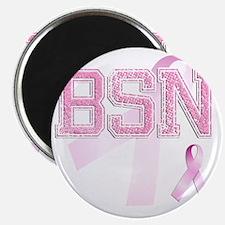 BSN initials, Pink Ribbon, Magnet