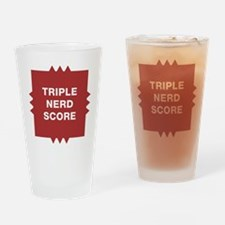 Triple Nerd Score Drinking Glass