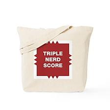 Triple Nerd Score Tote Bag