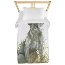 Weimaraner Artwork by Paula Cook Twin Duvet